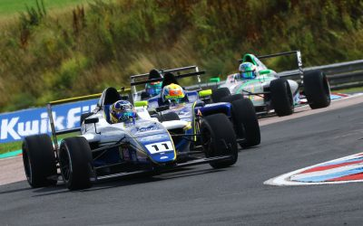 Double pole and solid points for Luke at Thruxton