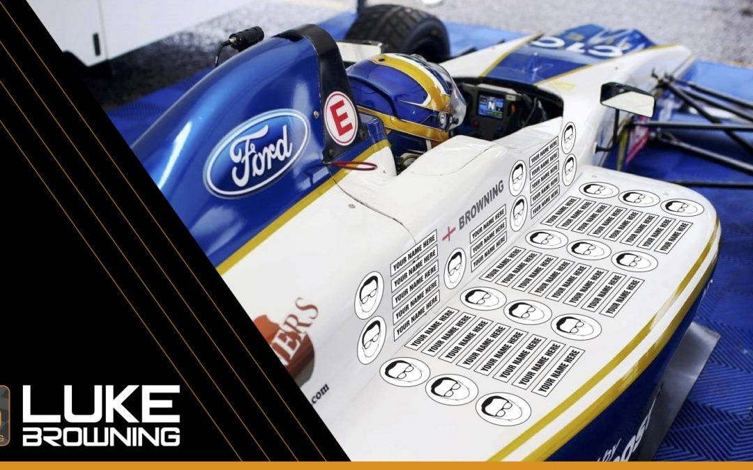 Luke Browning launches new Fan Sponsorship scheme